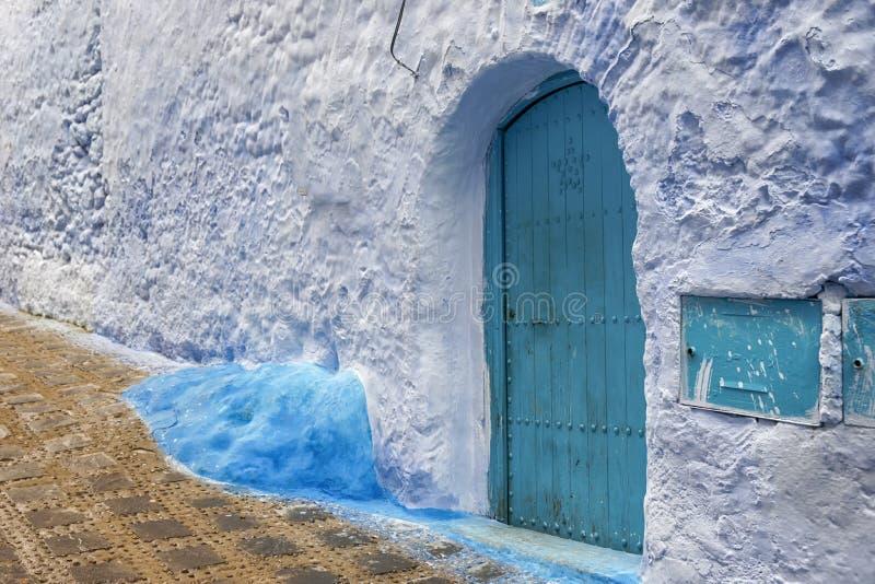 Wereldsteden, Chefchaouen in Marokko stock foto