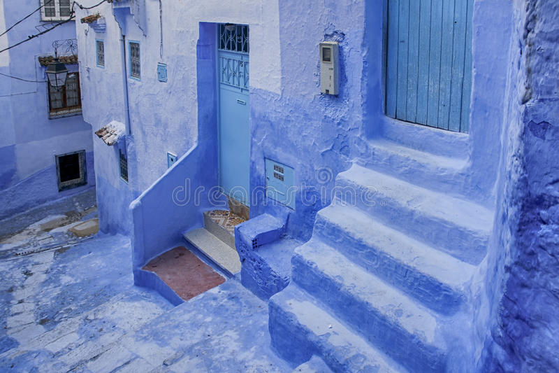 Wereldsteden, Chefchaouen in Marokko royalty-vrije stock foto