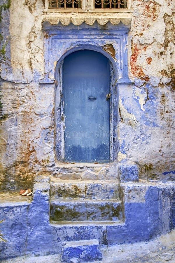 Wereldsteden, Chefchaouen in Marokko royalty-vrije stock afbeelding