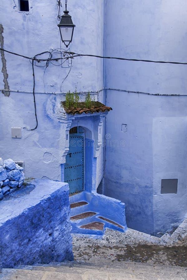 Wereldsteden, Chefchaouen in Marokko stock foto's