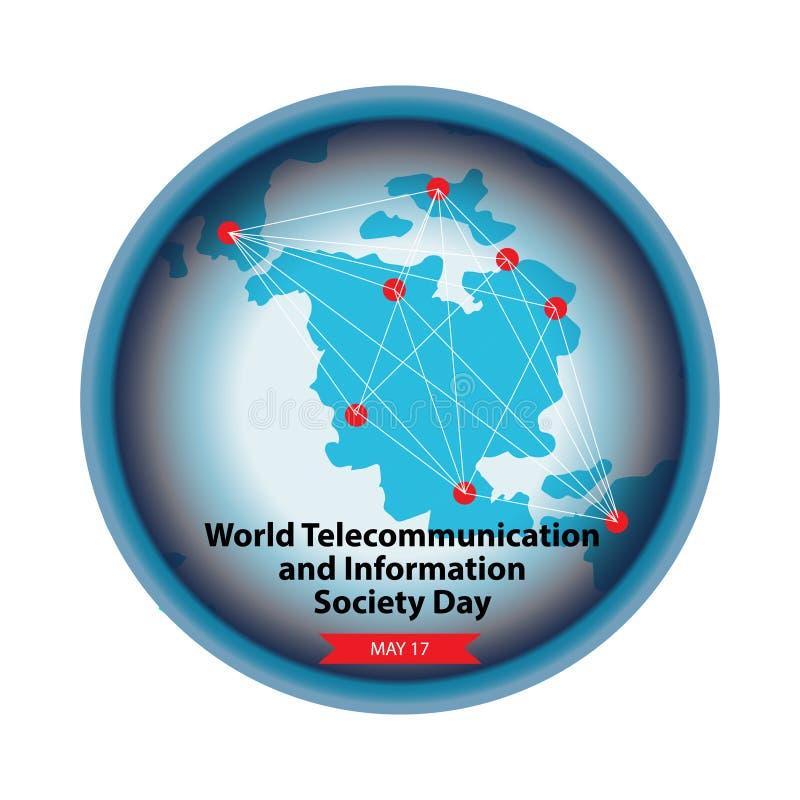 Wereldtelecommunicatie en Informatiemaatschappij Dag royalty-vrije illustratie