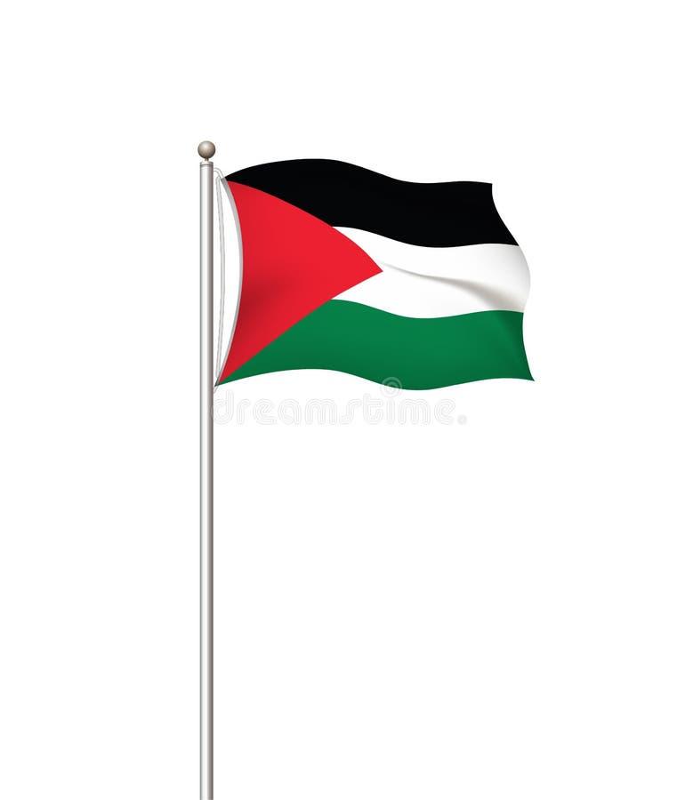 Wereldvlaggen Nationale de vlag post transparante achtergrond van het land palestina Vector illustratie royalty-vrije illustratie