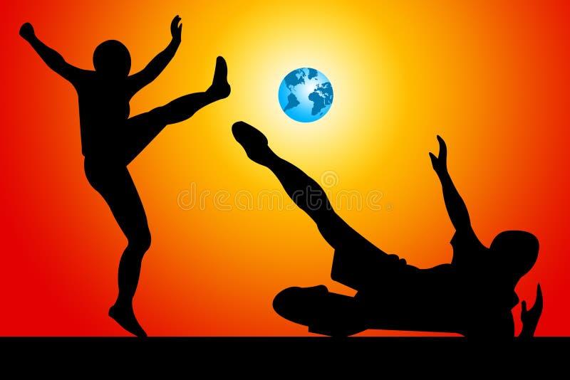 Wereldvoetbal royalty-vrije illustratie