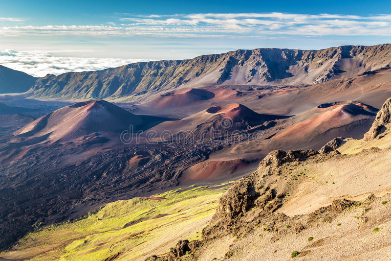 Wereldvreemde Volcano Landscape royalty-vrije stock foto