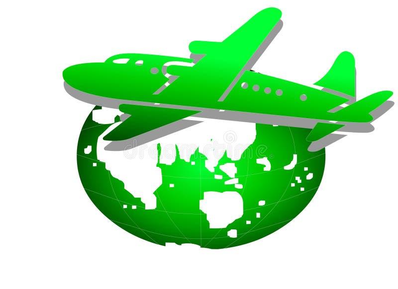 Wereldwijd het reizen stock illustratie