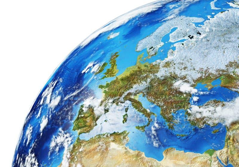 Wereldwijde nabijheid van Europa royalty-vrije stock fotografie