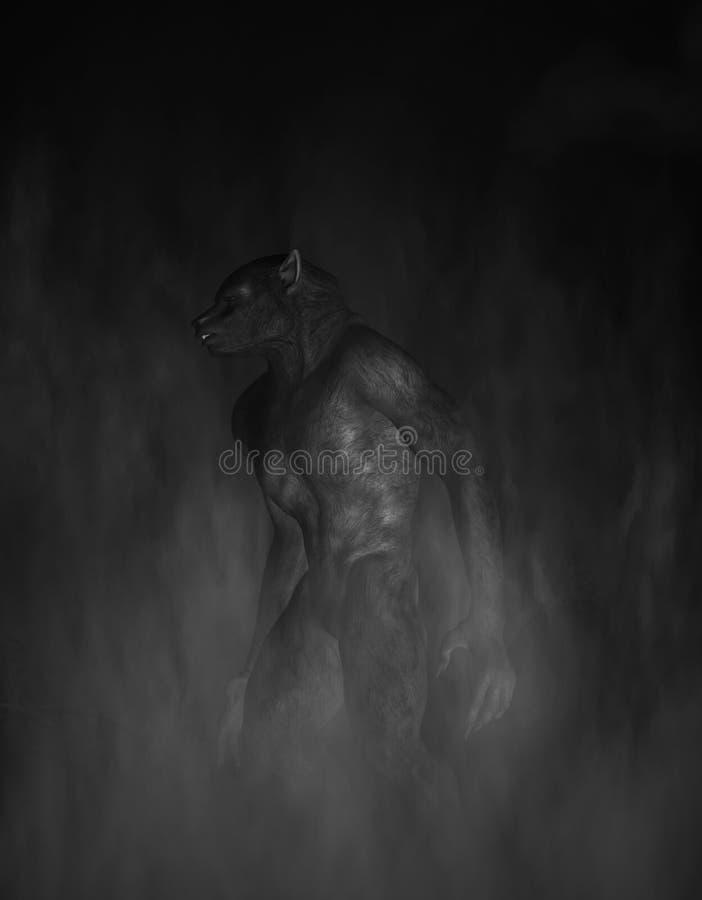 werewolf иллюстрация штока