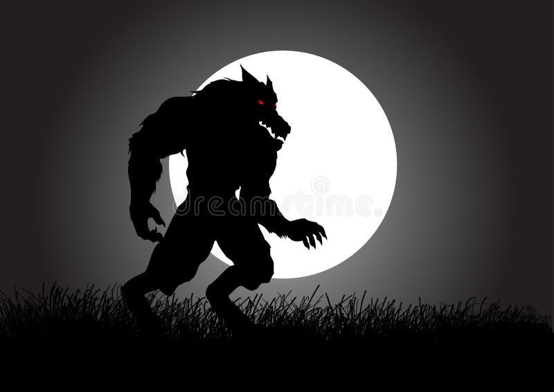 werewolf ilustración del vector