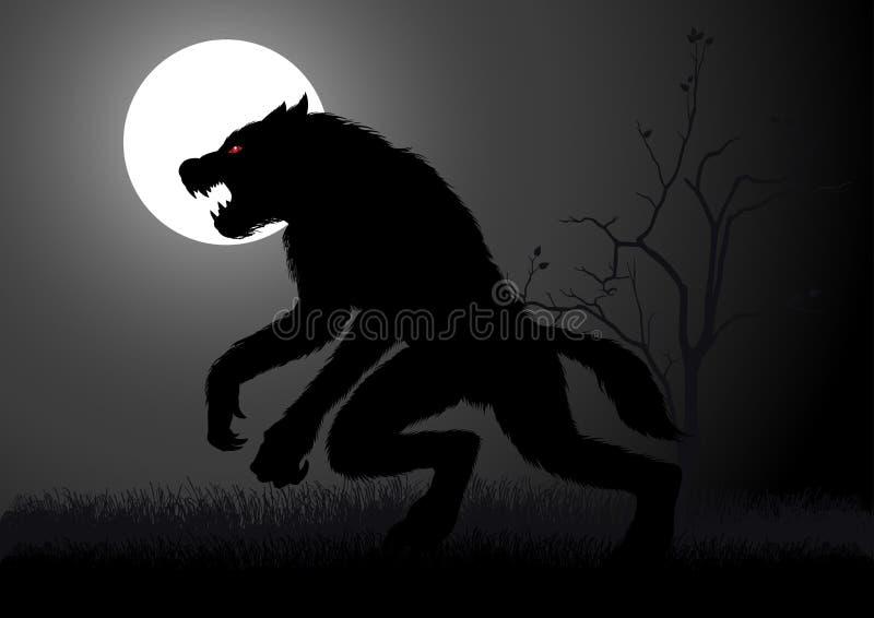 werewolf illustrazione di stock