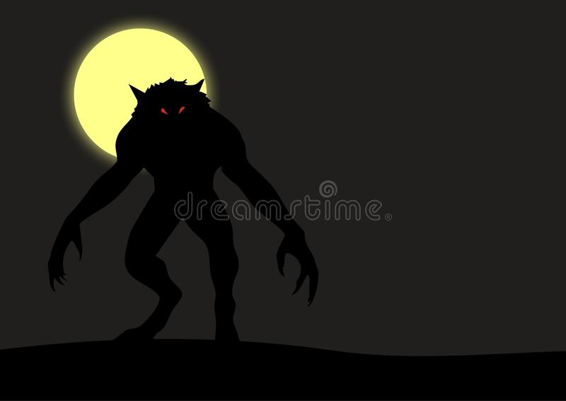 werewolf stock illustrationer