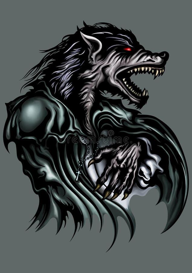 werewolf vektor abbildung