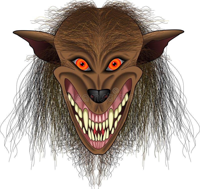 Werewolf_face illustration stock