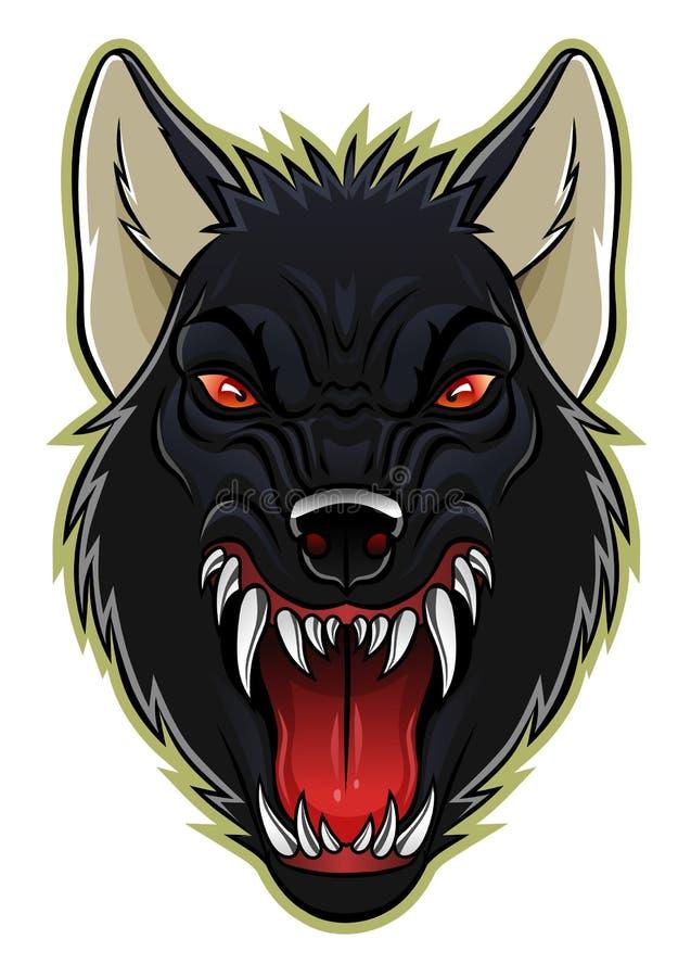 Werewolf head stock vector. Illustration of beast, cartoon ...
