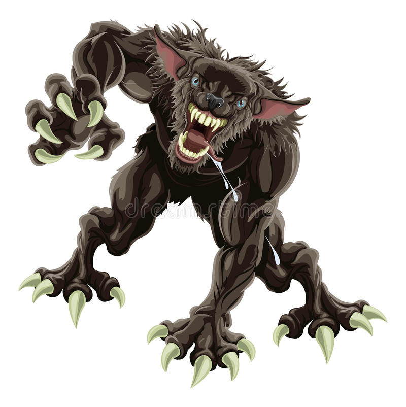 Werewolf Illustration Stock Images
