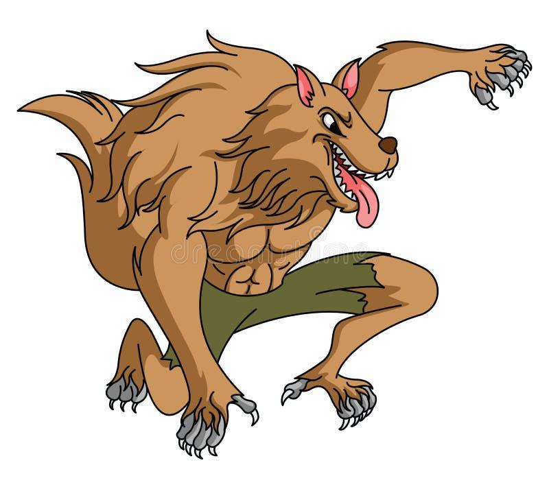 Werewolf royalty free illustration