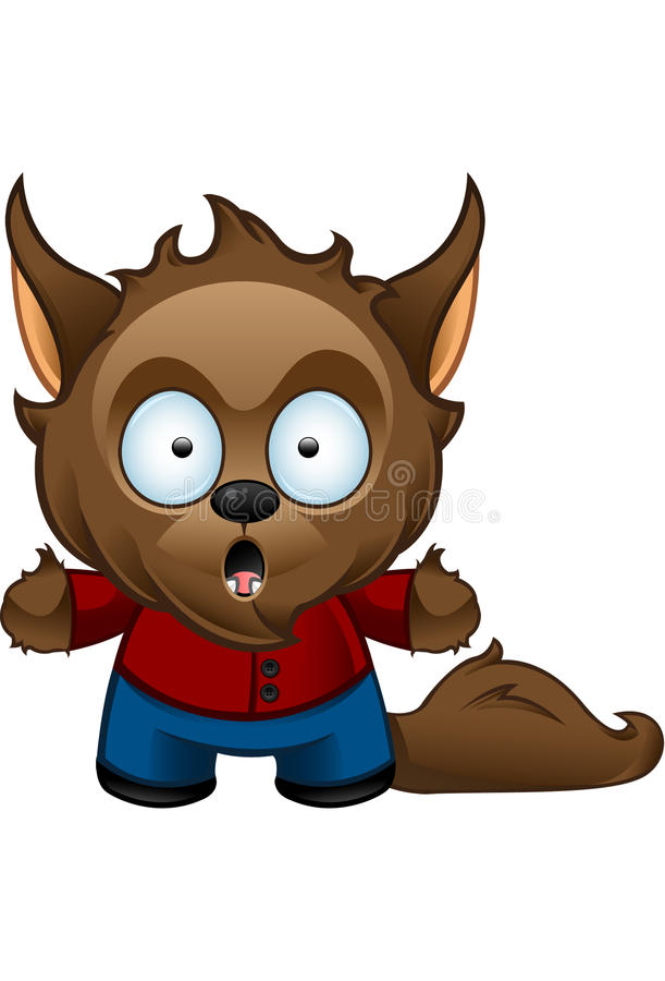 Werewolf Monster - Shocked Royalty Free Stock Images