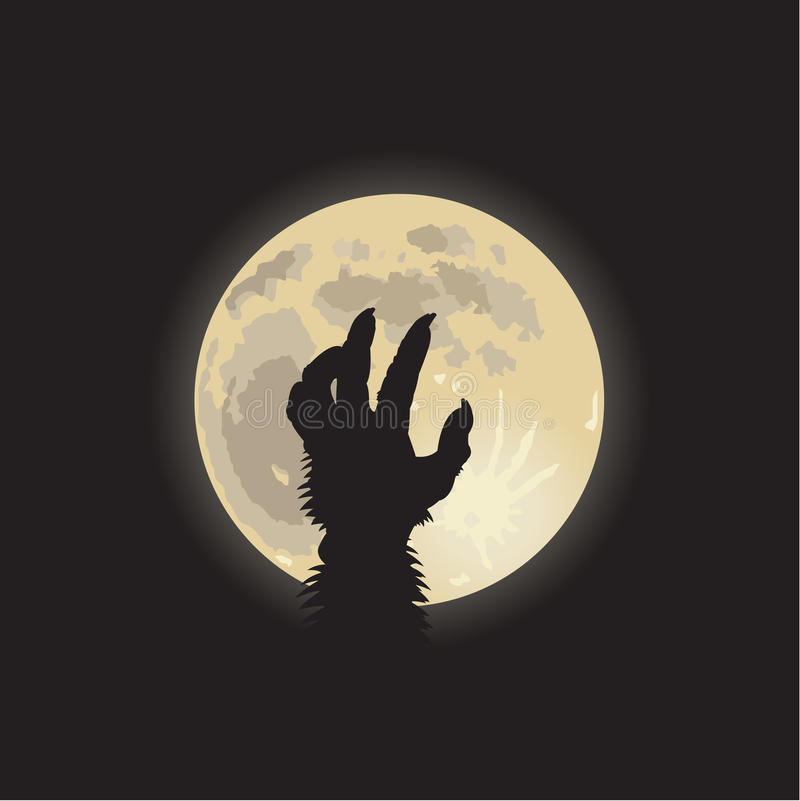 Download Werewolf moonlight stock illustration. Illustration of moonlight - 14535930