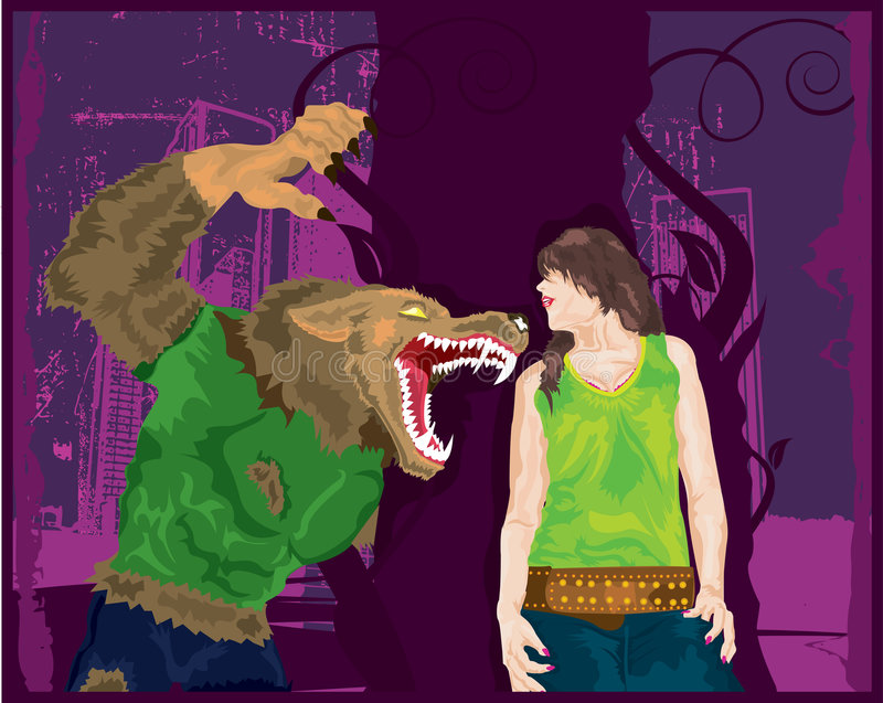 Download Werewolf Surprise.. stock vector. Image of halloween, horror - 3169369