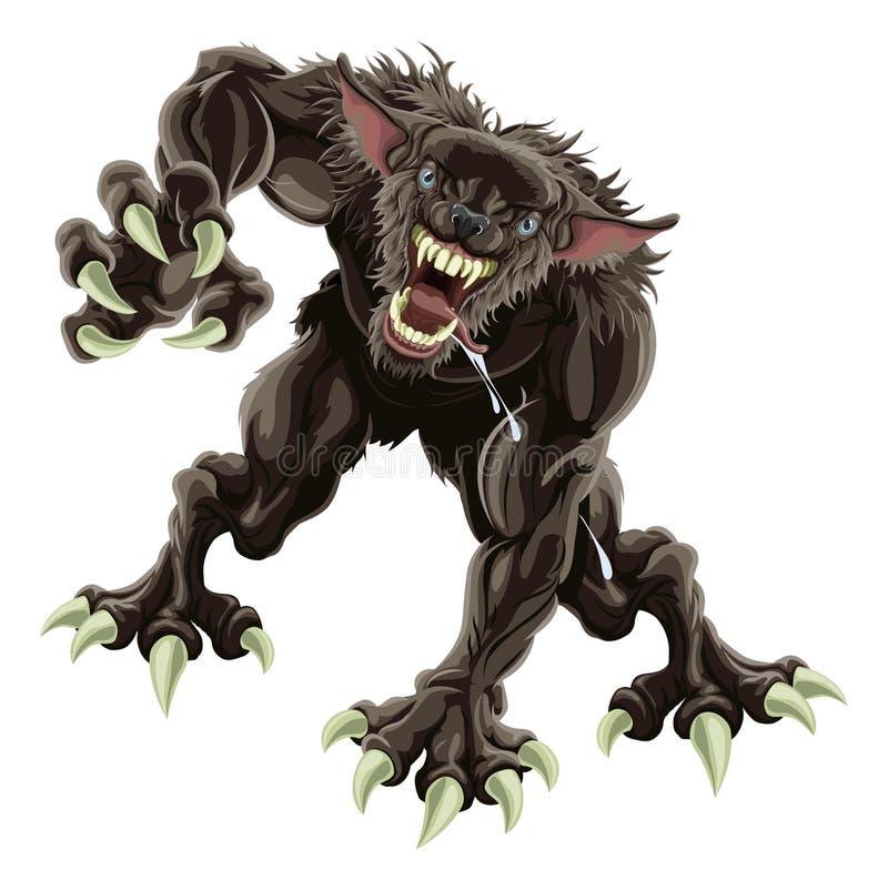 Werewolfabbildung stock abbildung