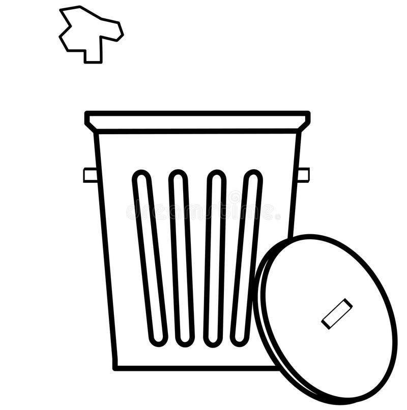 Werfender Abfall im Abfall lizenzfreie abbildung