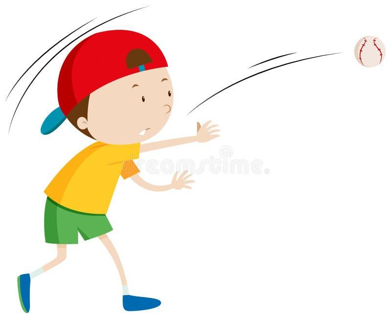 Werfender Ball des kleinen Jungen vektor abbildung
