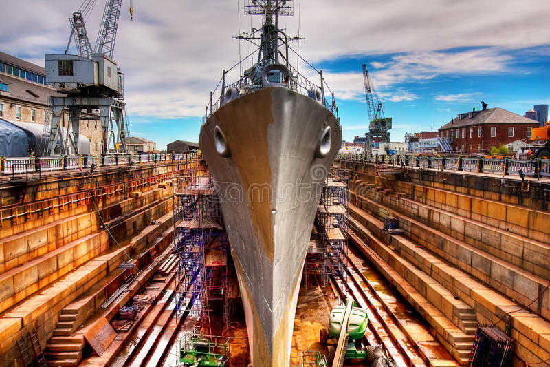 Werft stockfotografie