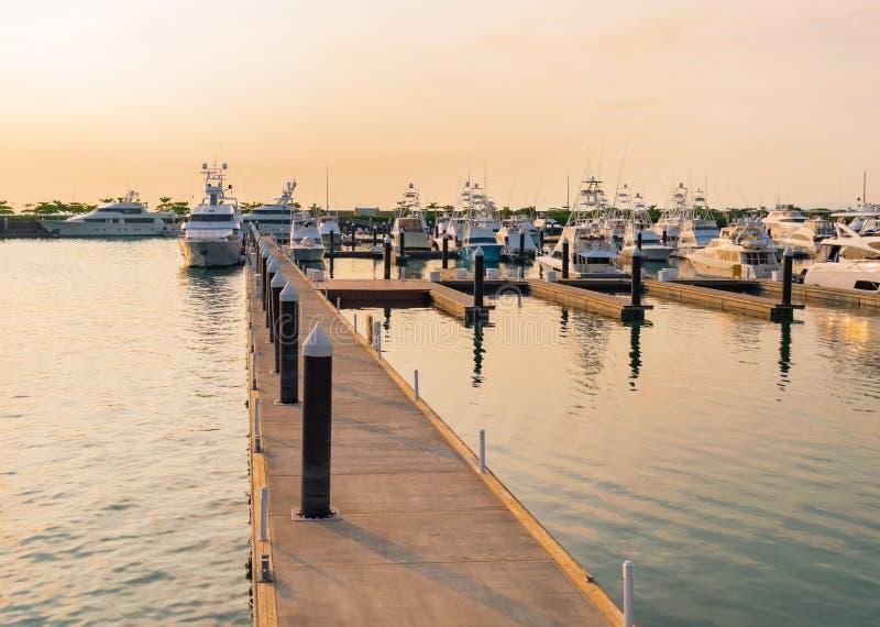 Werft auf der Küstenlinie stockbilder
