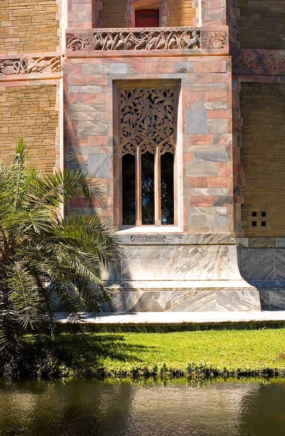 Werk marmeren venster uit royalty-vrije stock fotografie