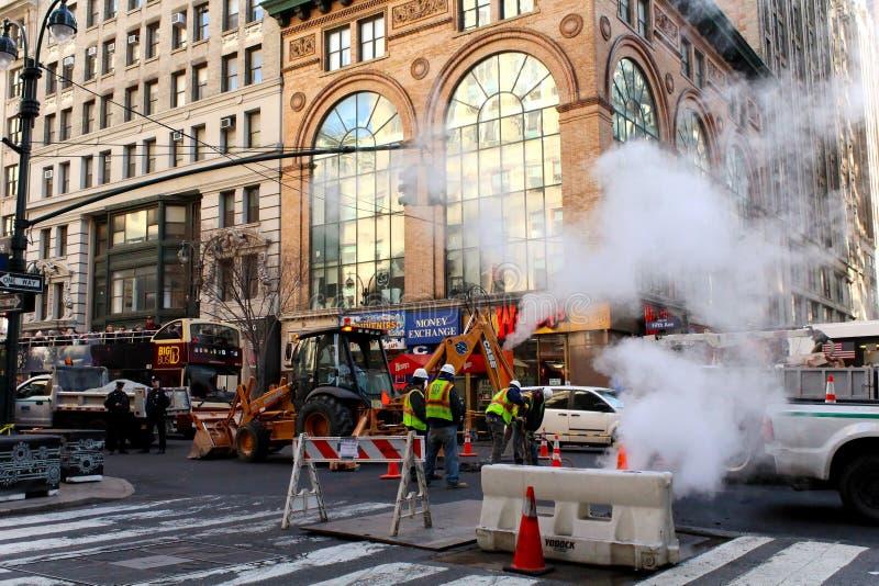 Werk in uitvoeringweg Manhattan New York de V.S. royalty-vrije stock foto