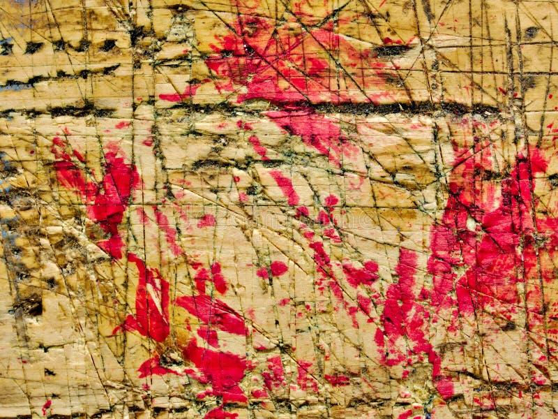 Werkbank verouderde oppervlakte met verfvlekken stock afbeeldingen