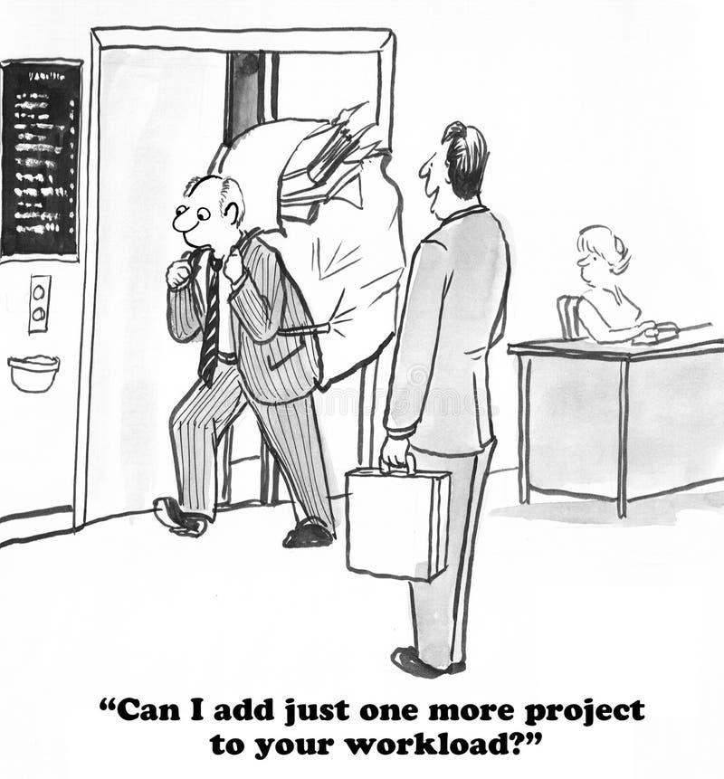 werkbelasting vector illustratie