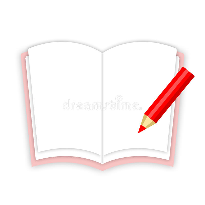Werkboek en potlood royalty-vrije illustratie