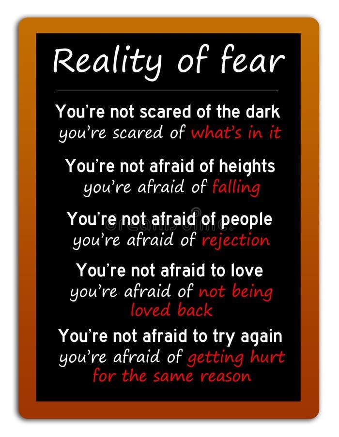 Werkelijkheid van vrees vector illustratie