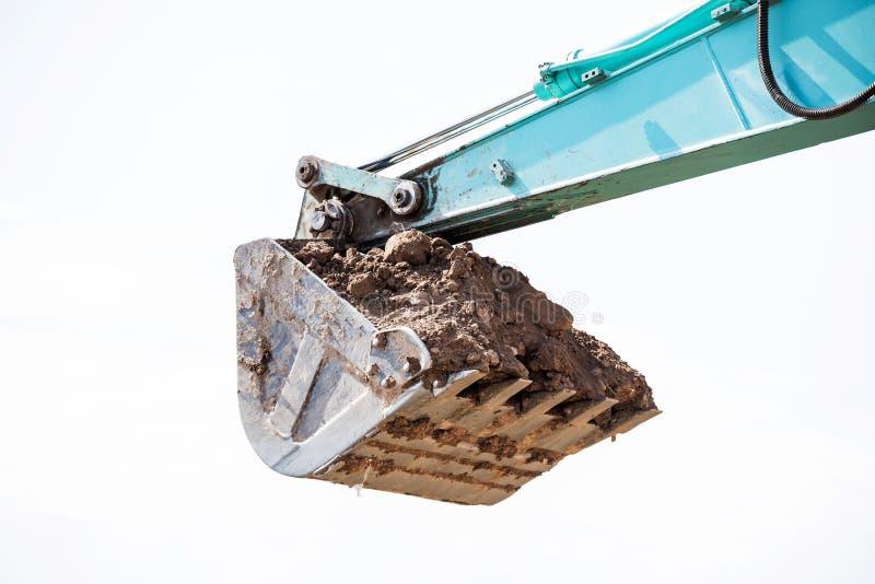 Werkend Graafwerktuig Tractor Digging een Geul royalty-vrije stock foto