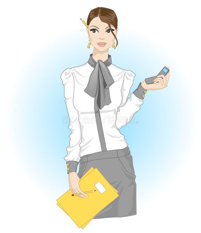 Werkend Meisje stock illustratie