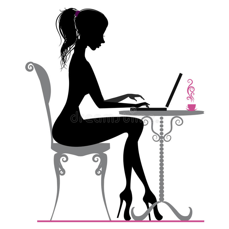Werkend meisje royalty-vrije illustratie