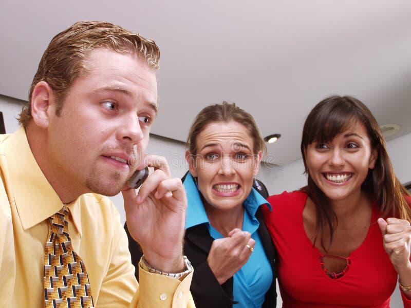 Werkend team. royalty-vrije stock fotografie