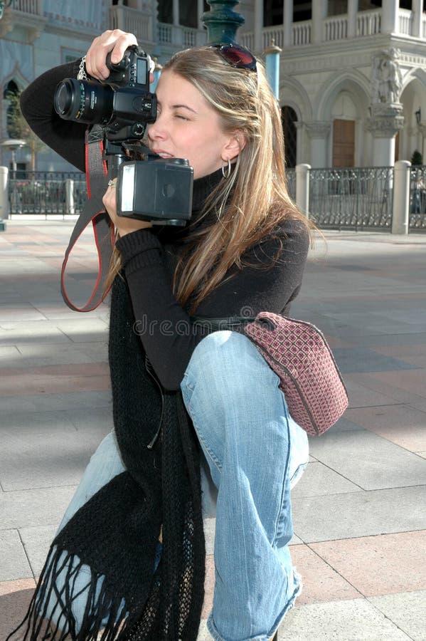 Werkende Fotograaf stock fotografie