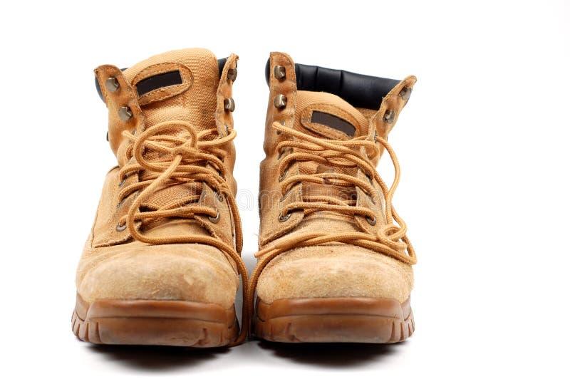 Werkende laarzen stock foto's