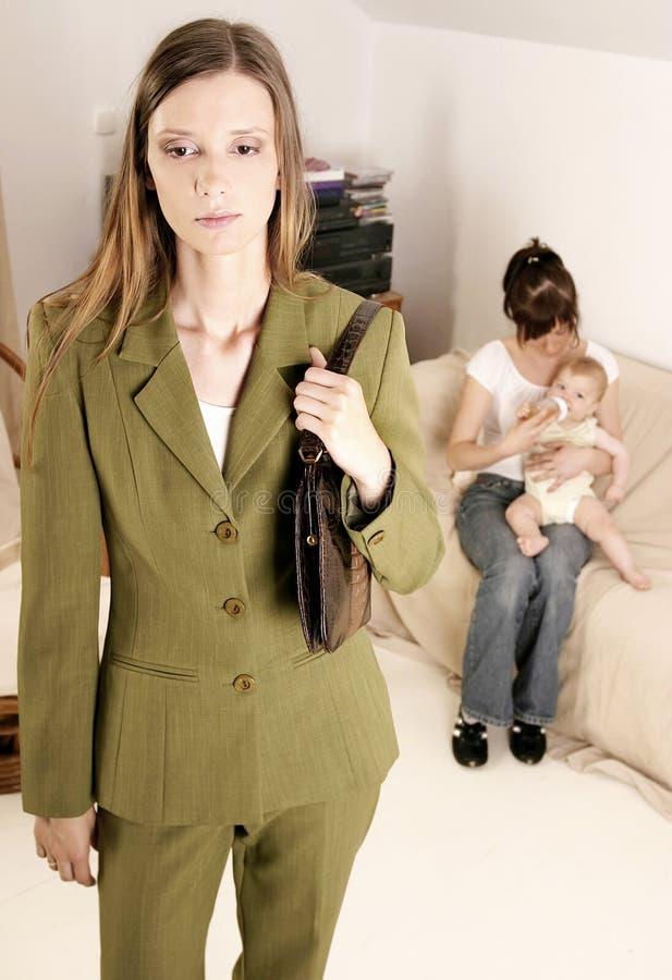 Werkende moeder stock afbeelding