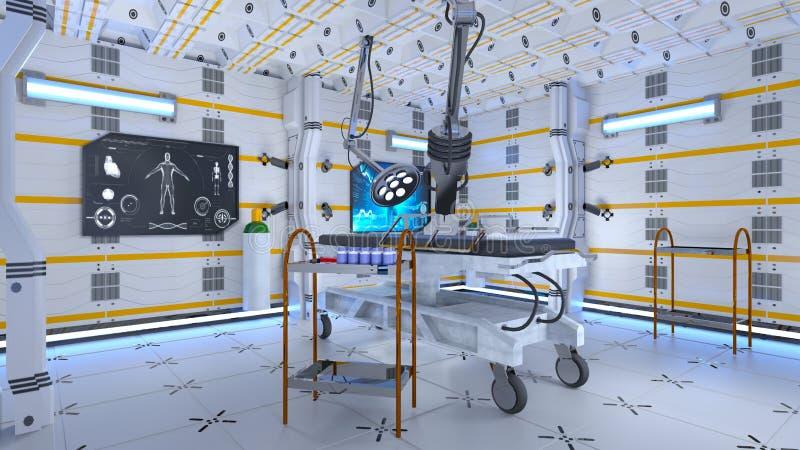 Werkende ruimte stock illustratie