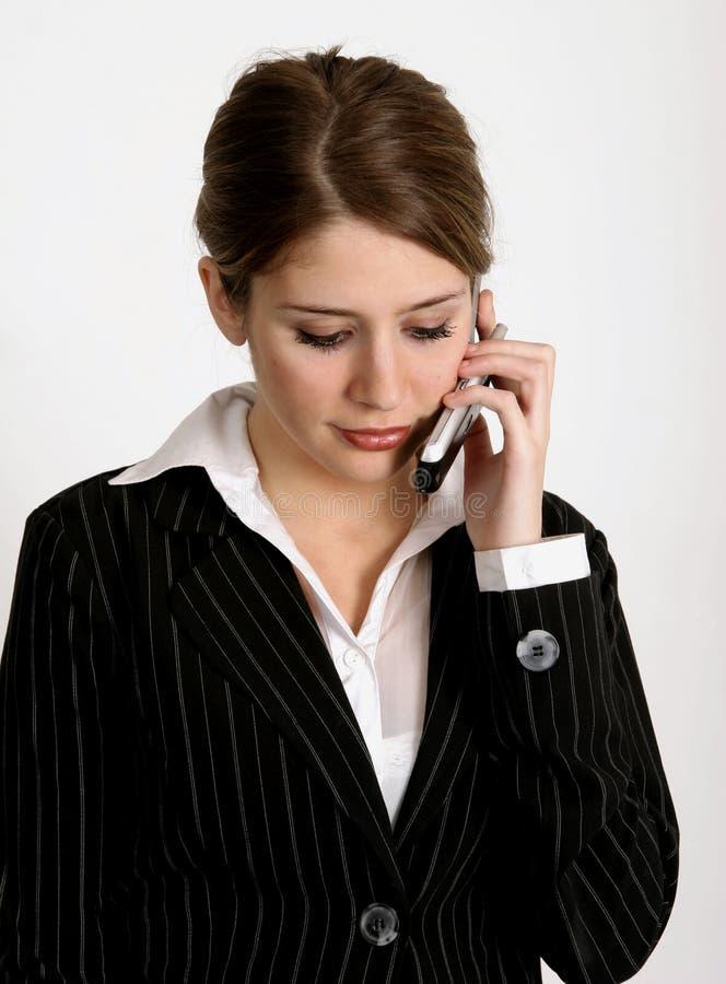 Werkende vrouw stock foto