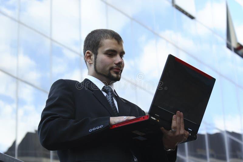 Werkende zakenman royalty-vrije stock fotografie