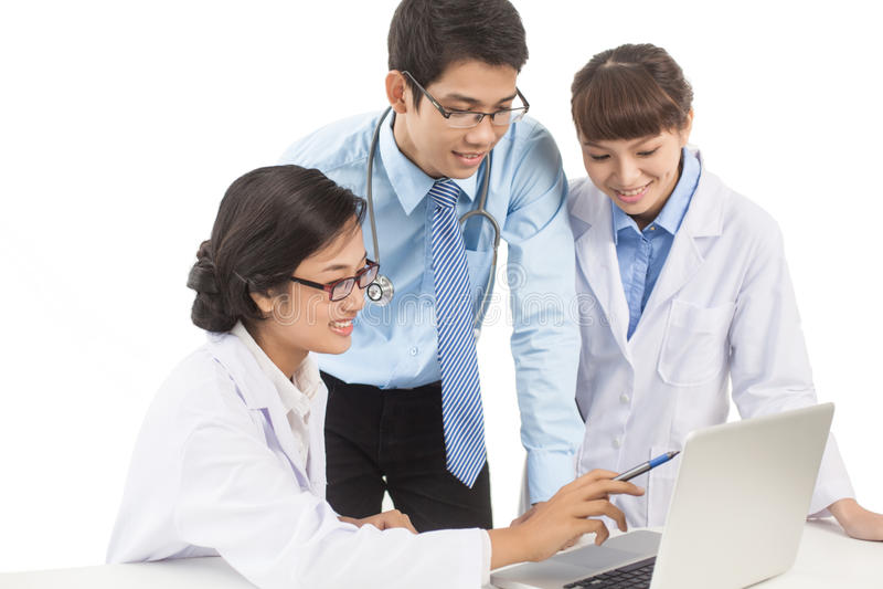 Werkers uit de gezondheidszorg op het werk royalty-vrije stock foto