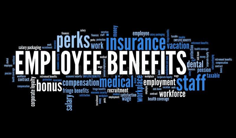 Werkgelegenheidsvoordelen royalty-vrije illustratie