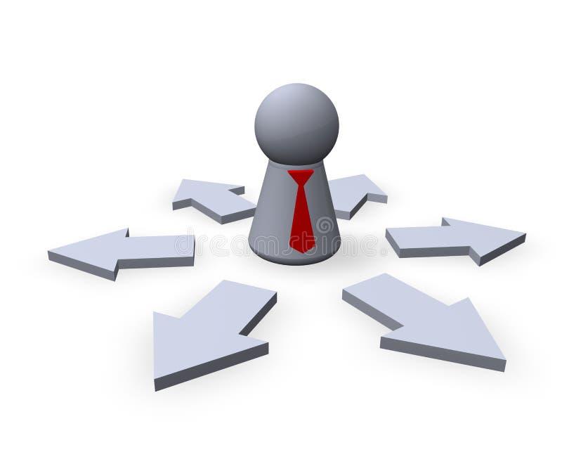 Werkgever stock illustratie