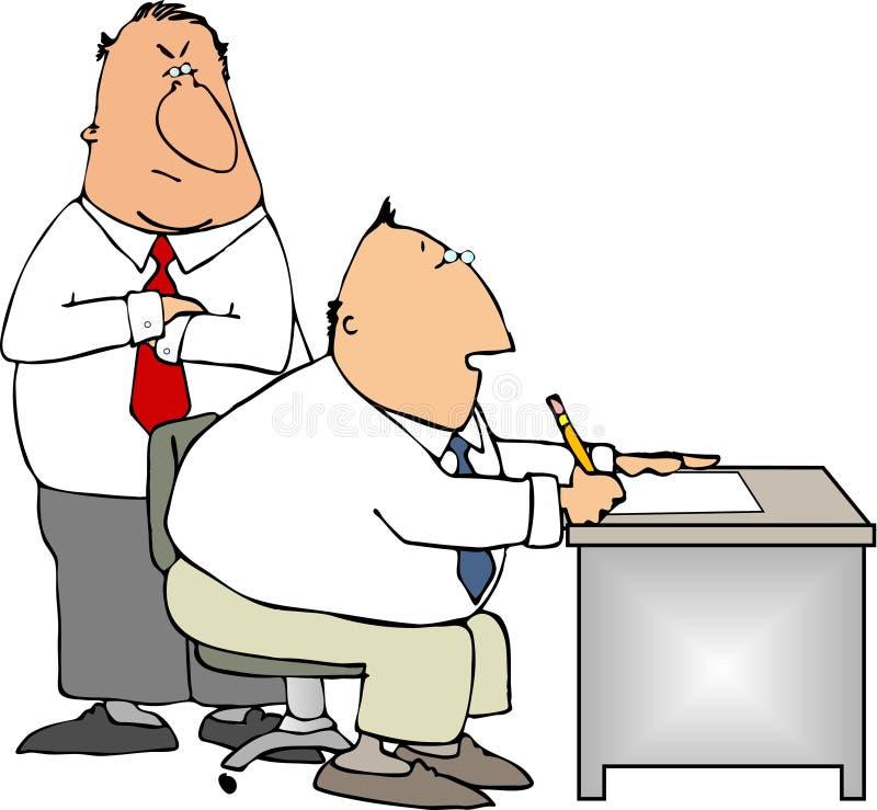 Werkgever en arbeider stock illustratie