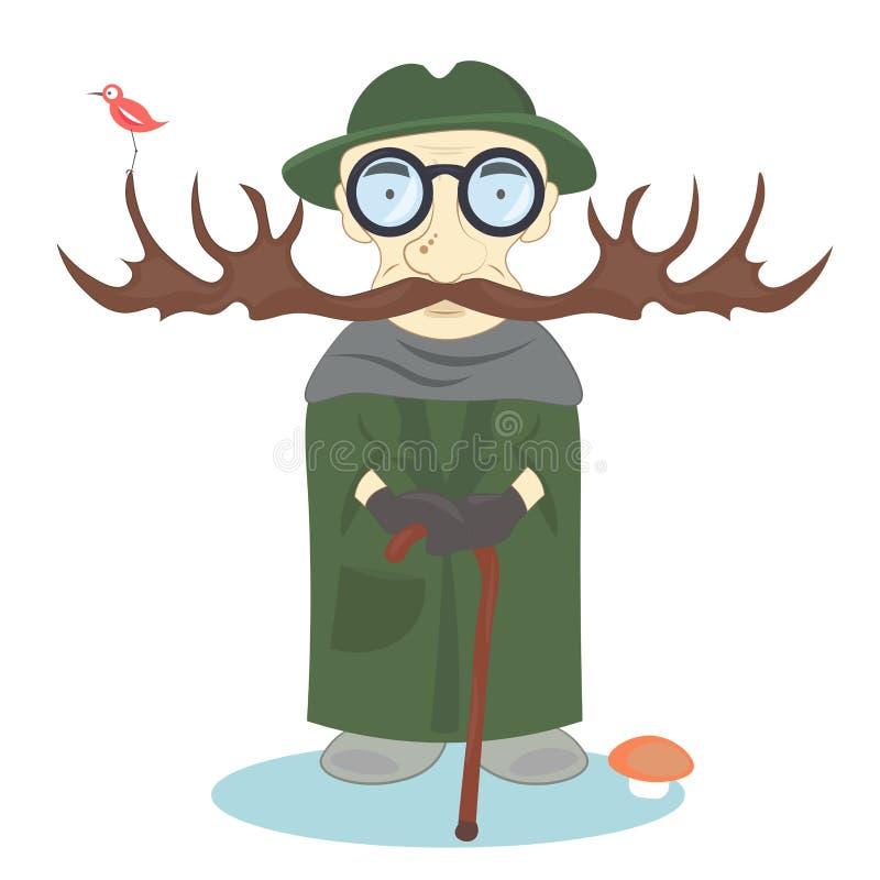 Werkgever en eigenaar van het bos royalty-vrije illustratie