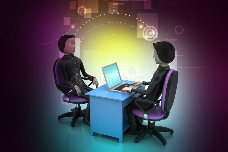 Werkgever en kandidaat, baan het huren concept vector illustratie