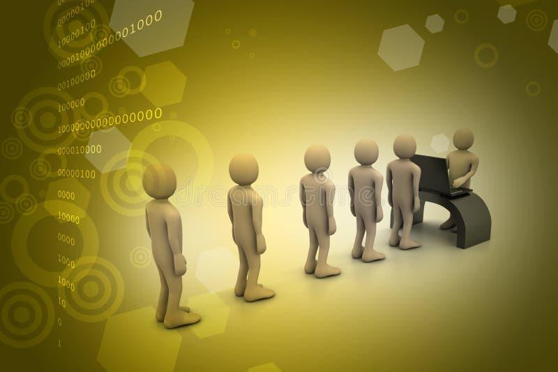 Werkgever en kandidaat, baan het huren concept royalty-vrije illustratie